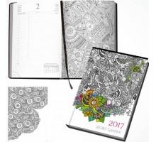 Kalendarz książkowy A5 Secret Garden 2017